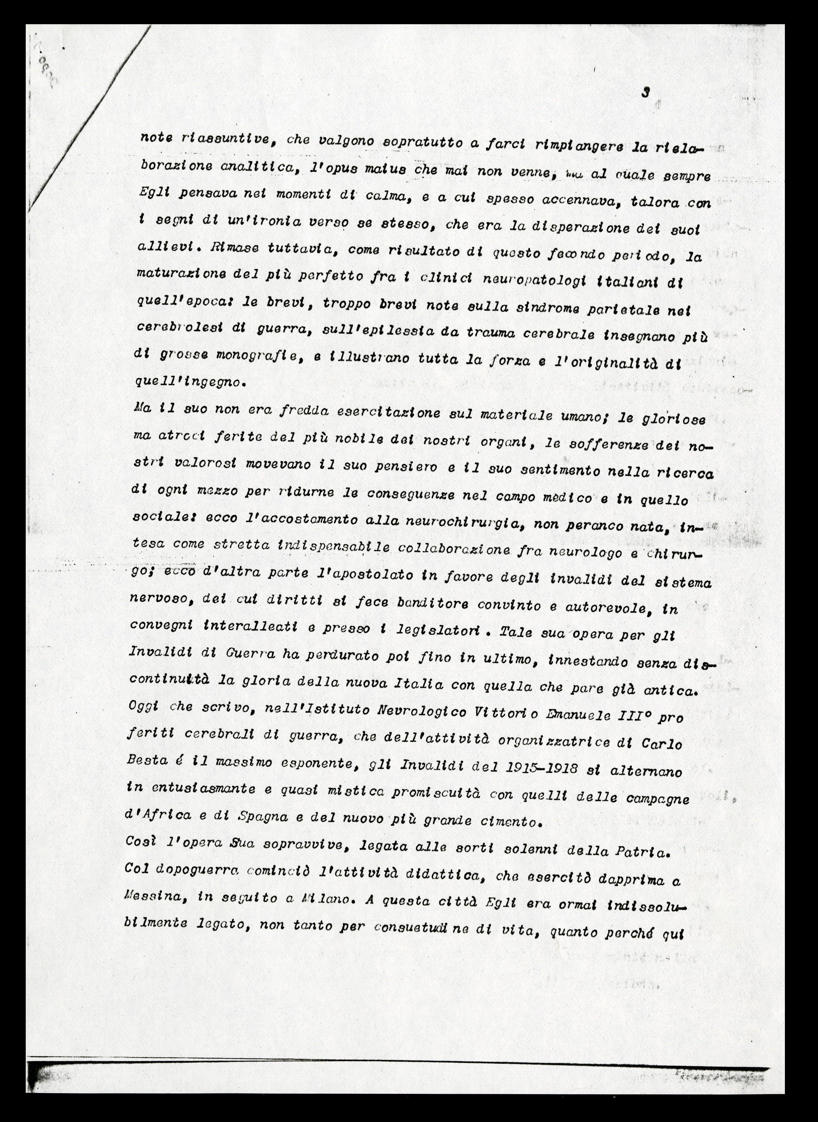 Curriculum Di Besta Per Il Cinquantenario Dell Istituto Aspi